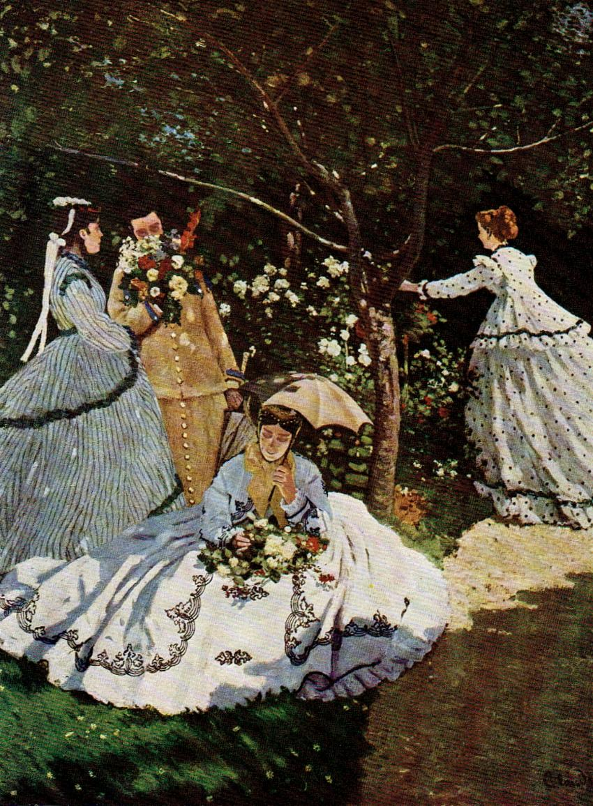 Monet. Women with flowers